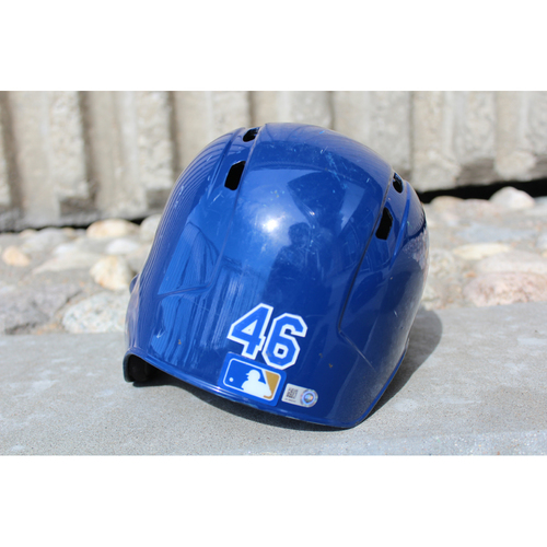 Photo of Game-Used Helmet: Ramon Torres (Size 7 - ARI at KC - 10/1/17)