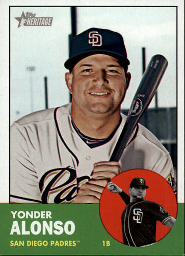 Photo of 2012 Topps Heritage #37 Yonder Alonso