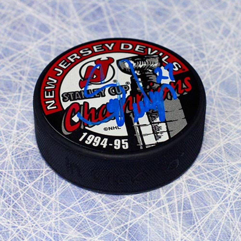 Scott Niedermayer New Jersey Devils Autographed 1995 Stanley Cup Puck