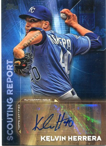 Photo of 2016 Topps Scouting Report Autographs #SRAKH Kelvin Herrera UPD