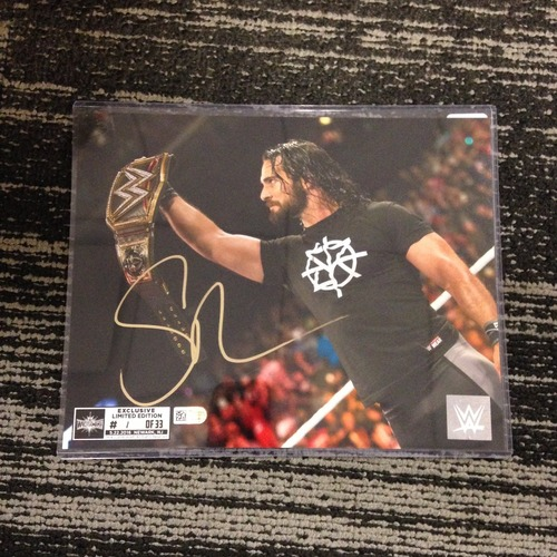 Photo of Seth Rollins SIGNED 8 x 10 Limited Edition WrestleMania 33 Photo (#1 of 33)