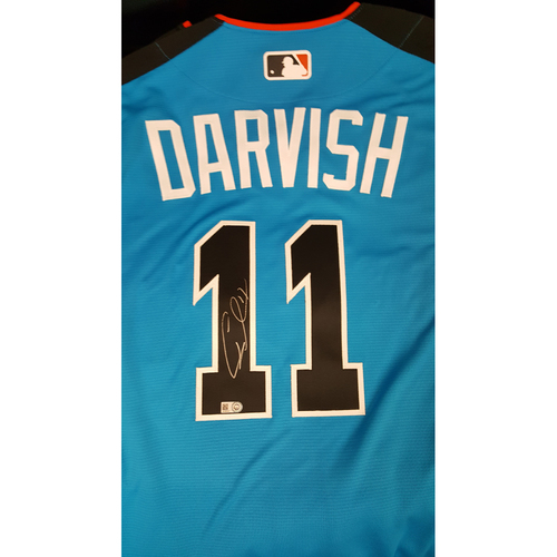 Photo of Yu Darvish 2017 Major League Baseball Workout Day/Home Run Derby Autographed Jersey
