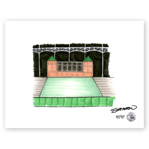 Photo of Globe Life Park Sketch - Limited Edition Print 42/42 by S. Preston