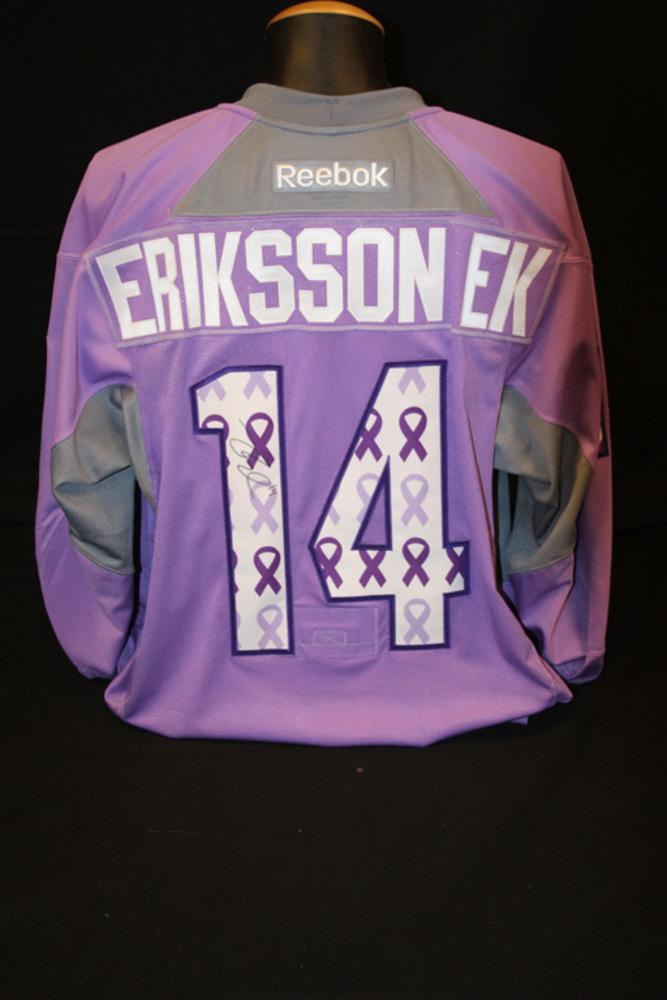 #14 Joel Eriksson Ek 2016-17 Hockey Fights Cancer Lavender Jersey
