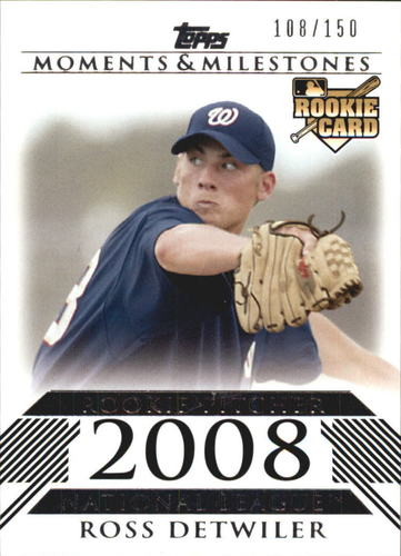 Photo of 2008 Topps Moments and Milestones #179 Ross Detwiler RC