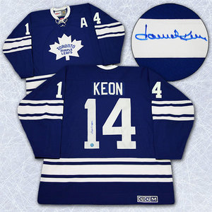 Dave Keon Toronto Maple Leafs Autographed 1967 Stanley Cup Retro CCM Jersey