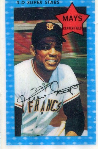 Photo of 1971 Kellogg's #10 Willie Mays -- Hall of Famer Giants