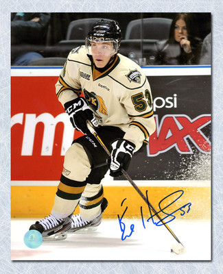 Bo Horvat London Knights Autographed CHL Hockey 8x10 Photo