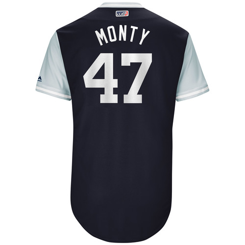 "Photo of Jordan ""Monty"" Montgomery New York Yankees Team-Issued Players Weekend Jersey"