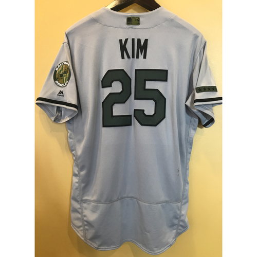 Photo of Hyun-Soo Kim - 2017 Memorial Day Road Jersey: Game-Used