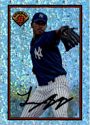Photo of 2014 Bowman '89 Bowman is Back Silver Diamond Refractors  Luis Severino -- Yankees post-season