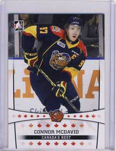 2014-15 LEAF ITG #11 Connor McDavid Erie Otters Canada's Best Pre-Rookie Card *Edmonton Oilers*