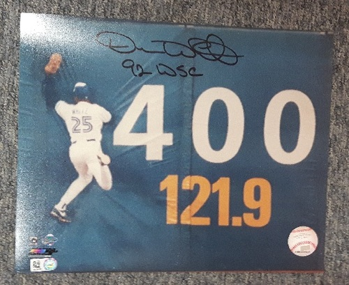 BLUE JAYS AUTHENTICS-Autographed Devon White 8x10 Photo with '92 World Series Inscription