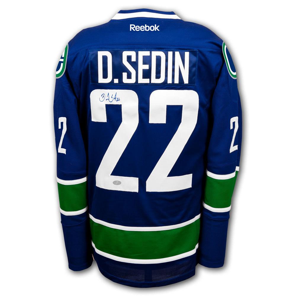 Daniel Sedin Vancouver Canucks RBK Premier Autographed Jersey
