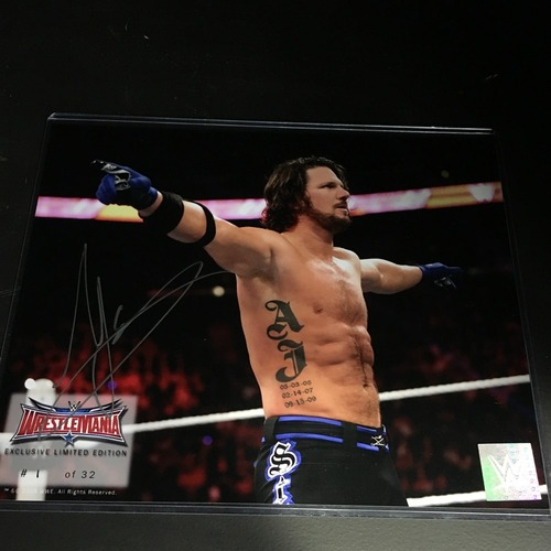 Photo of AJ Styles SIGNED WrestleMania 32 Limited Edition 8 x10 Photo