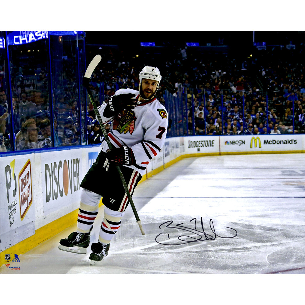 Brent Seabrook Chicago Blackhawks 2015 Stanley Cup Champions Autographed 16