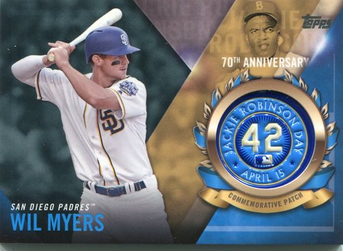 Photo of 2017 Topps Jackie Robinson Logo Patches #JRPCWM Wil Myers