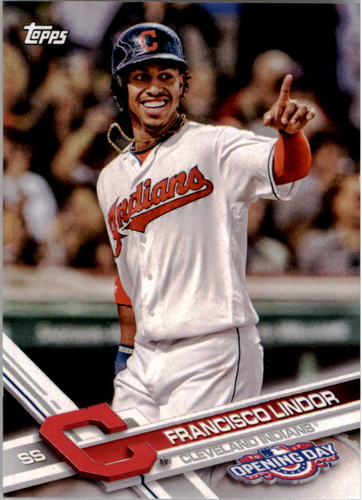 Photo of 2017 Topps Opening Day #122A Francisco Lindor