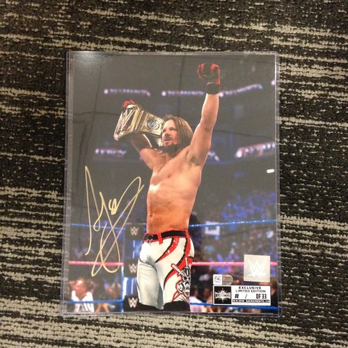 Photo of AJ Styles SIGNED 8 x 10 Limited Edition WrestleMania 33 Photo (#1 of 33) (w/ Title)