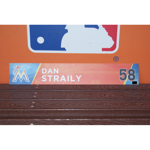Photo of Dan Straily Home Opener Locker Tag
