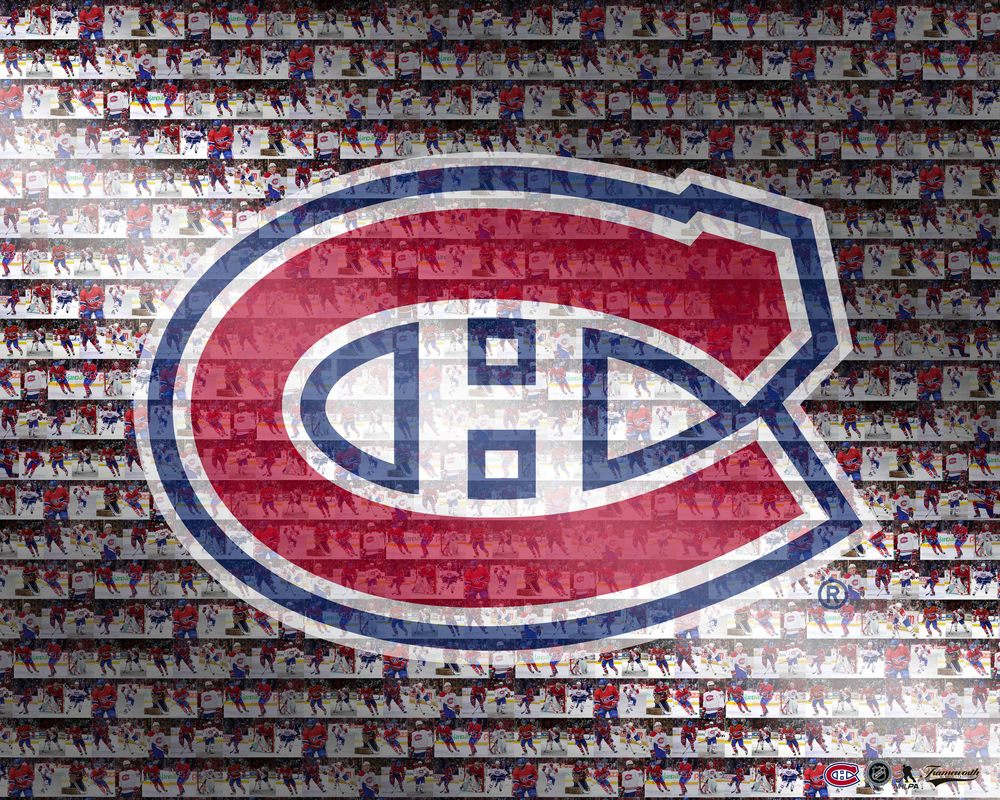 Montreal Canadiens - 16x20 Logo Photo Mosaic Plaque