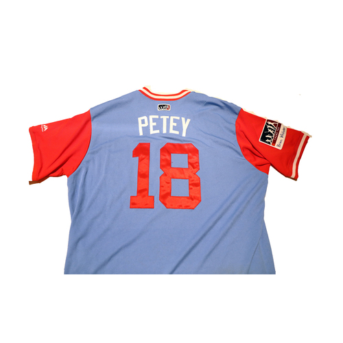 "Photo of Drew ""Petey"" Robinson Texas Rangers Game-Used Players Weekend Jersey"