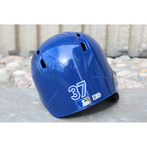 Photo of Game-Used Helmet: Brandon Moss (Size 7 1/4 - ARI at KC - 10/1/17)