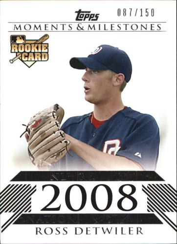 Photo of 2008 Topps Moments and Milestones #180 Ross Detwiler RC