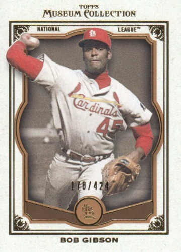 Photo of 2013 Topps Museum Collection Copper #5 Bob Gibson