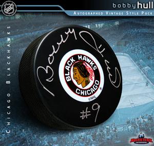 BOBBY HULL Signed Chicago Blackhawks Puck