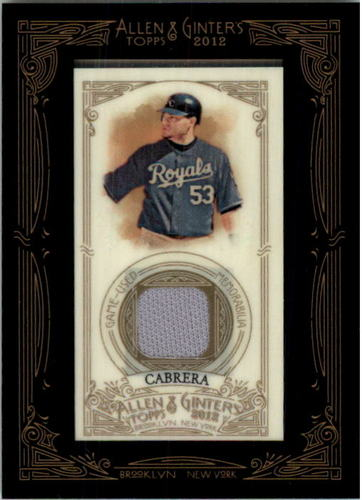 Photo of 2012 Topps Allen and Ginter Relics #MCA Melky Cabrera