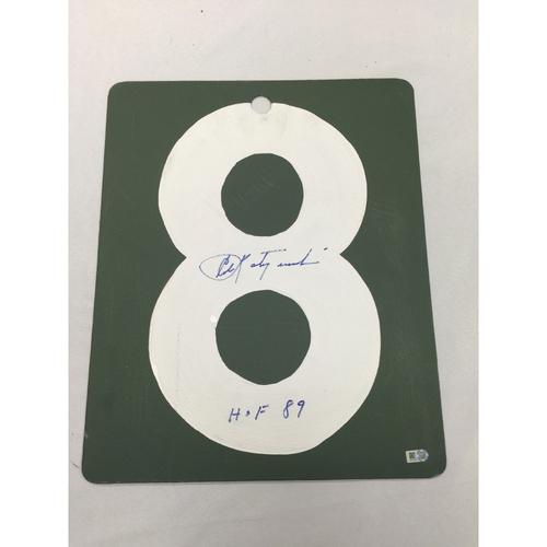 Photo of Carl Yastrzemski Autographed Fenway Park Scoreboard Number