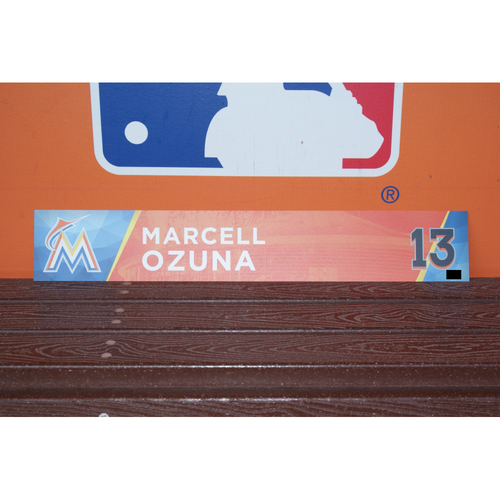 Photo of Marcell Ozuna Home Opener Locker Tag