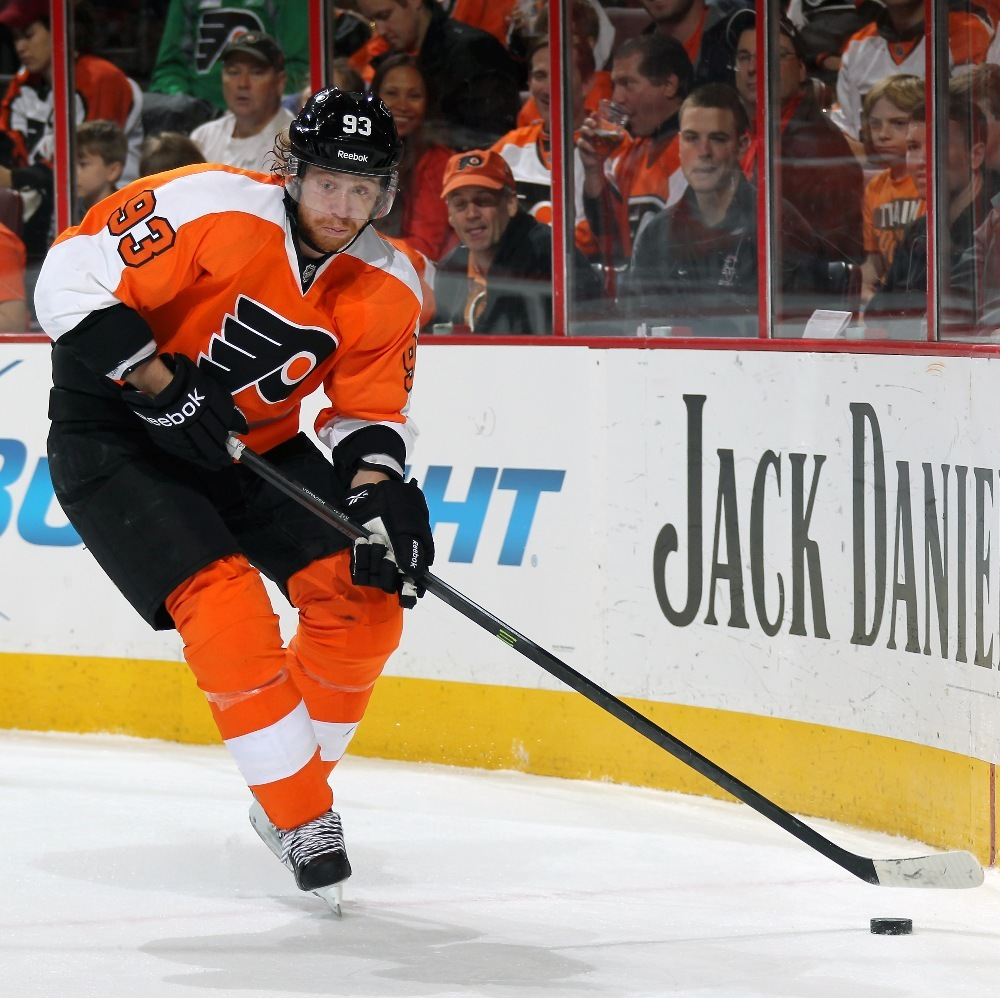 Flyers Charities Stick Auction: Jake Voracek Game-Used Signed Stick-Philadelphia Flyers