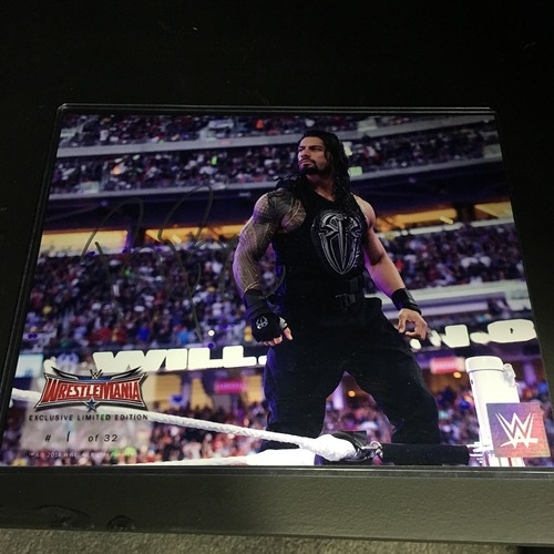 Photo of Roman Reigns SIGNED WrestleMania 32 Limited Edition 8 x10 Photo