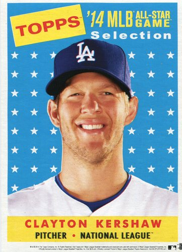 Photo of 2014 Topps 5x7 All-Star Selection Clayton Kershaw -- Part of exclusive Minneapolis FanFest set