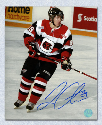 Logan Couture Ottawa 67s Autographed On Ice 8x10 Photo