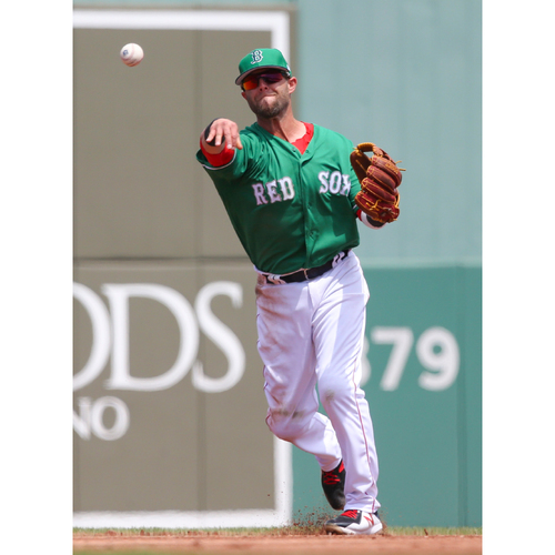 Photo of Red Sox Foundation St. Patrick's Day Jersey Auction - Dustin Pedroia Game-Used & Autographed Jersey