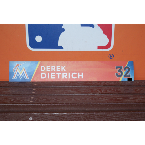 Photo of Derek Dietrich Home Opener Locker Tag