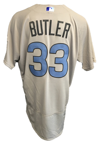Photo of Eddie Butler Game-Used Father's Day Jersey -- Cubs vs Pirates -- 6/17/17