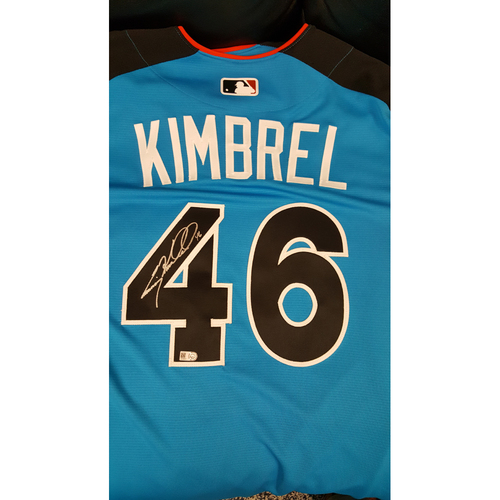 Photo of Craig Kimbrell 2017 Major League Baseball Workout Day/Home Run Derby Autographed Jersey