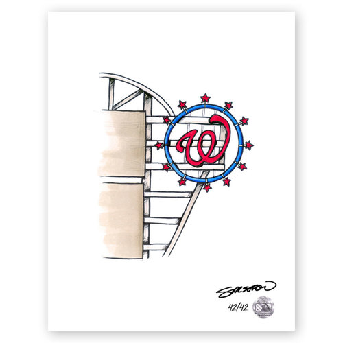 Photo of Nationals Park Sketch - Limited Edition Print 42/42 by S. Preston