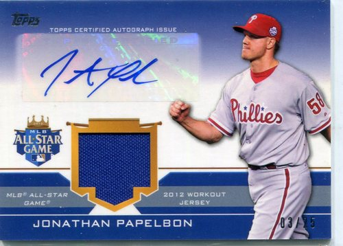 Photo of 2012 Topps Update All-Star Stitches Autographs # JP Jonathan Papelbon 03/25