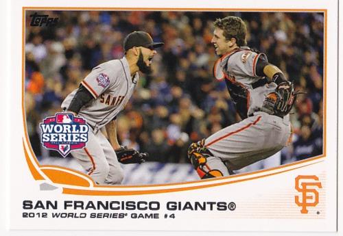 Photo of 2013 Topps #67 San Francisco Giants