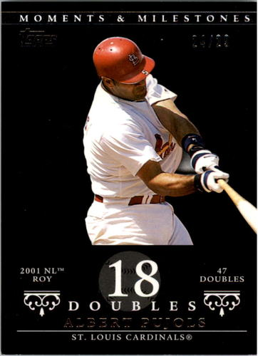 Photo of 2007 Topps Moments and Milestones Black #5-18 Albert Pujols/2B 18