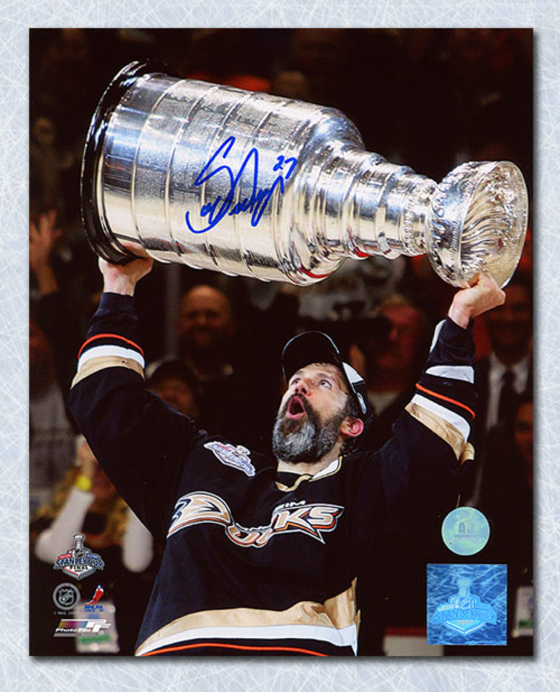 Scott Niedermayer Anaheim Ducks Autographed 2007 Stanley Cup 8x10 Photo
