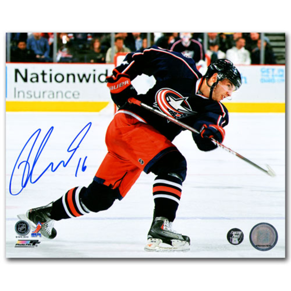 Derick Brassard Autographed Columbus Blue Jackets 8X10 Photo (New York Rangers)