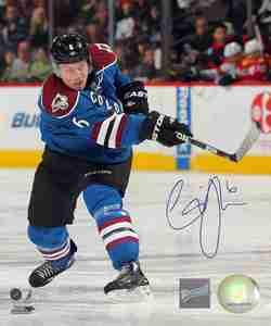 Erik Johnson - Signed 8x10 Colorado Avalanche Slapshot Photo
