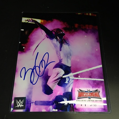 Photo of Finn Bálor SIGNED WrestleMania 32 Limited Edition 8 x10 Photo