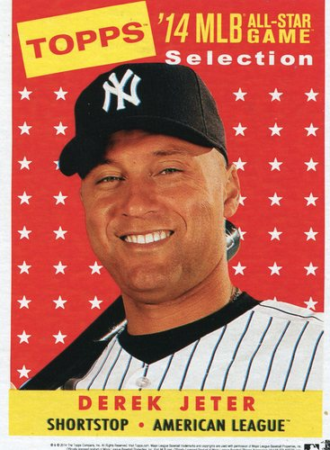 Photo of 2014 Topps 5x7 All-Star Selection Derek Jeter -- Part of exclusive Minneapolis FanFest set